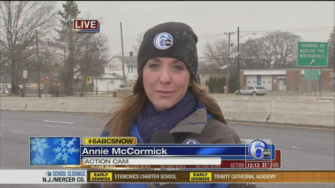 VIDEO: Annie McCormick reports on snow in South Jersey