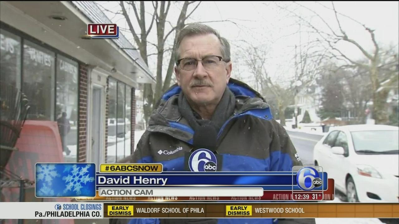 VIDEO: David Henry reports on noreaster preps in Bucks Co.