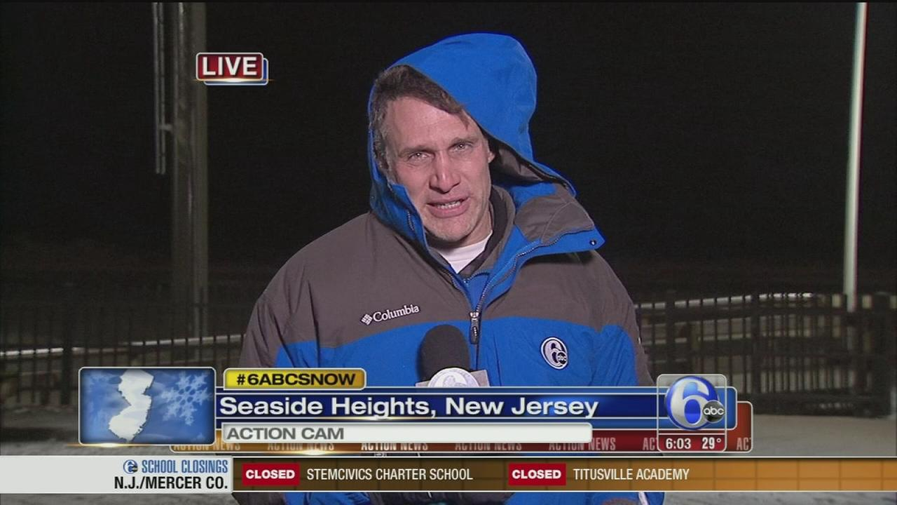 VIDEO: Walter Perez reports on storm from Seaside Heights