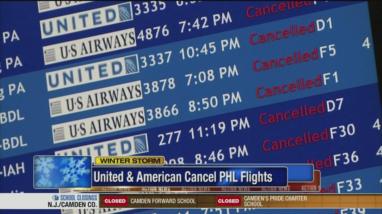 VIDEO: Flights canceled