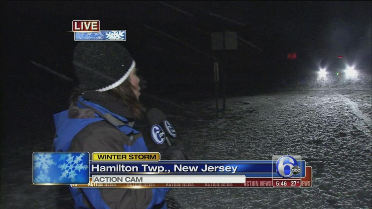 VIDEO: Erin OHearn on snow in Hamilton Twp., NJ