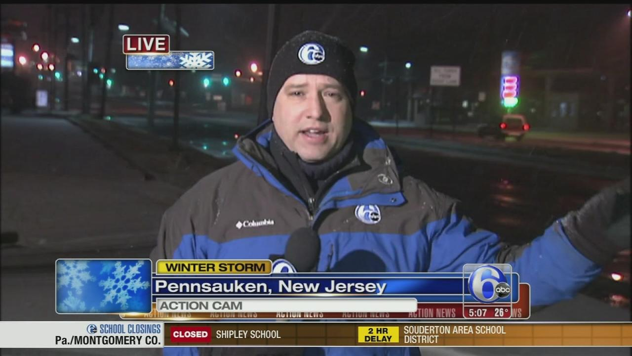 VIDEO: Chad Pradelli reports on snow in Pennsauken