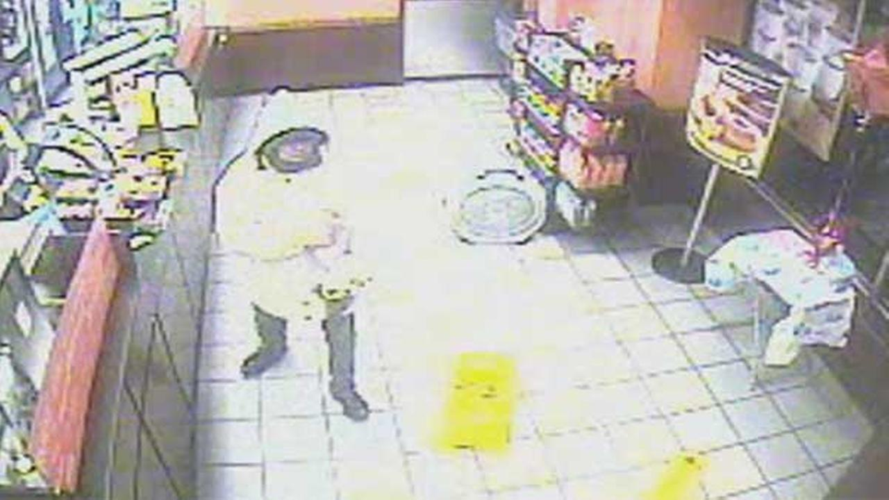 Philadelphia police are looking for an armed suspect who robbed a Dunkin Donuts in Center City.