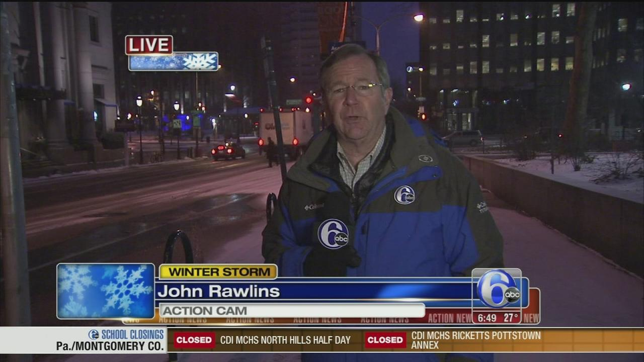 VIDEO: John Rawlins reports on snow in Center City