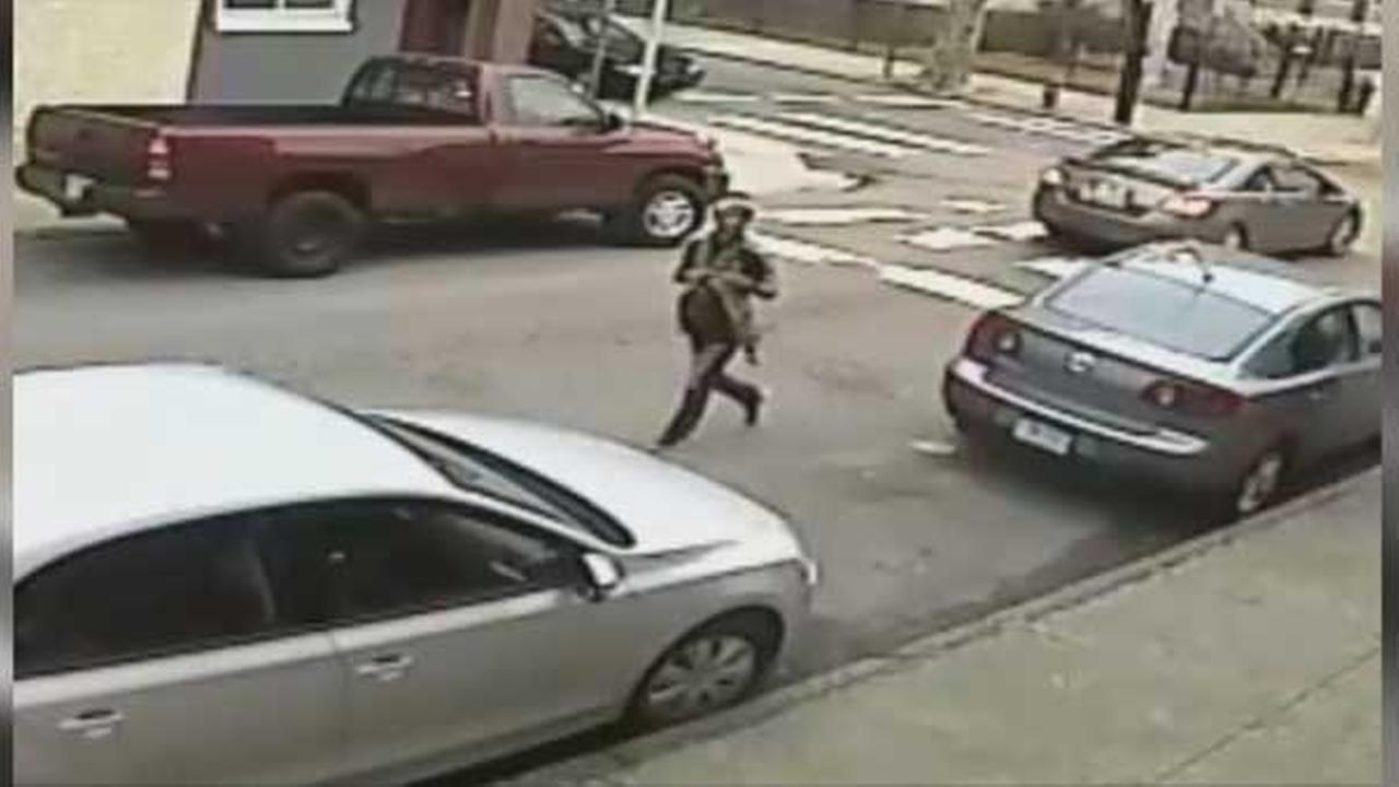 Philadelphia police are searching for a suspect who robbed a woman while she was sitting inside her vehicle in the citys Fishtown section.