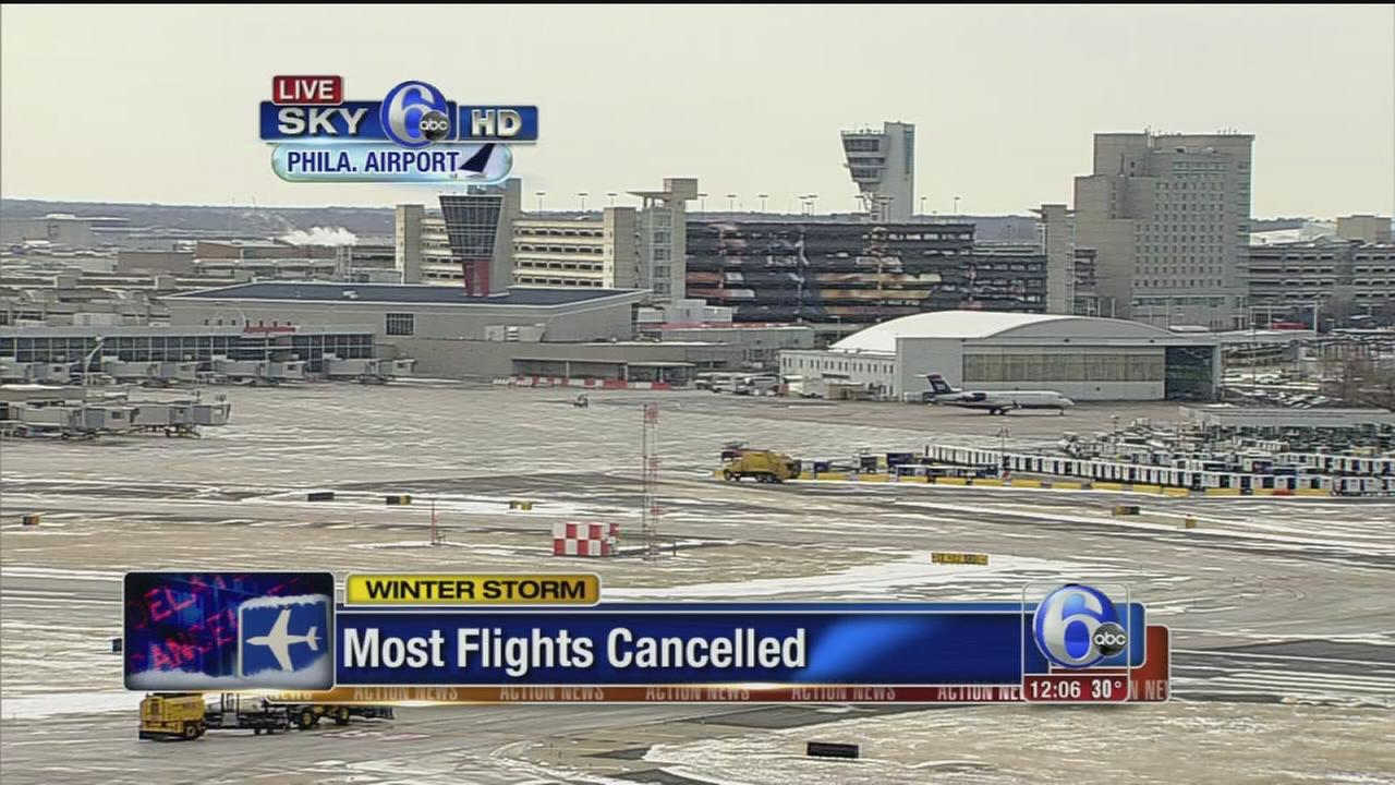 VIDEO: Most flights cancelled at PHL