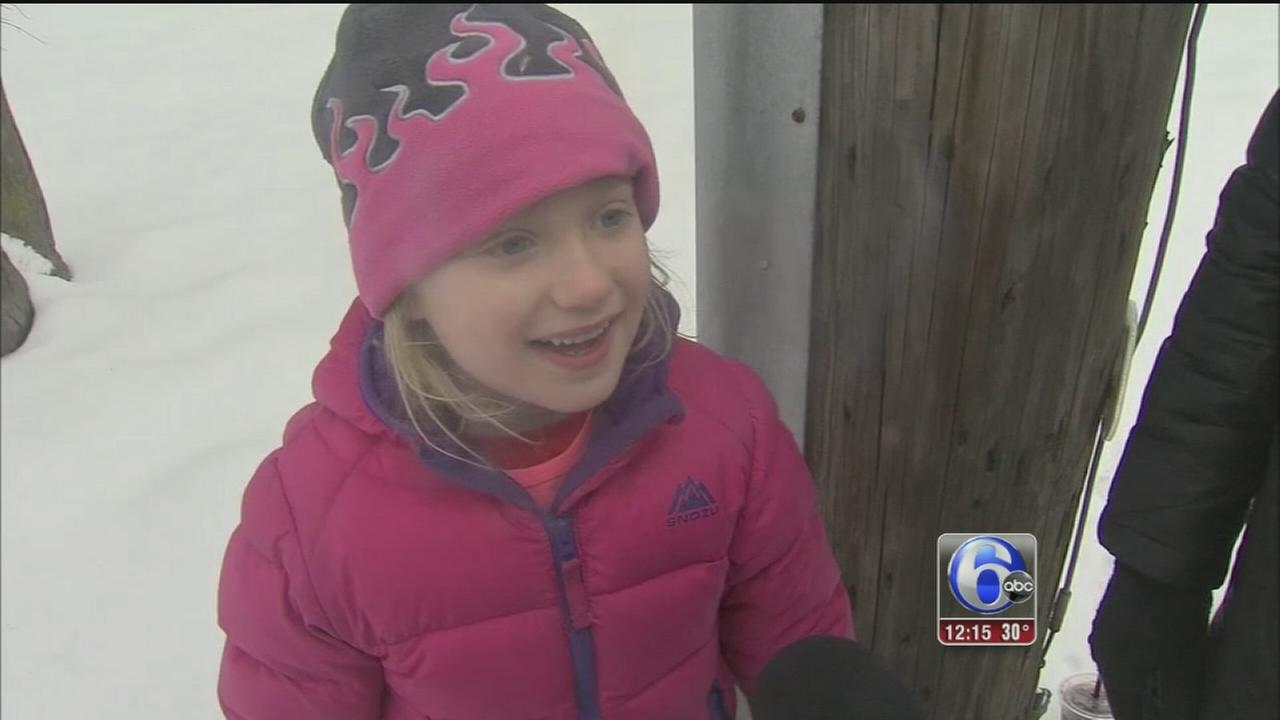 VIDEO: Still enjoying a snow day in Bucks County