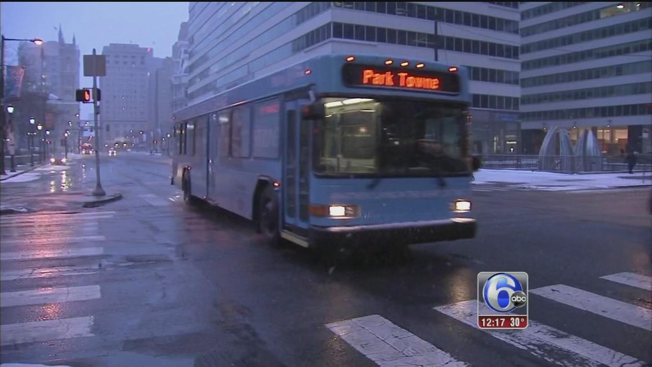 VIDEO: Lighter snowfall meant easier commute through Center City