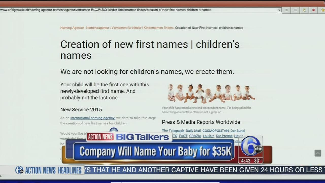 VIDEO: Get a one-of-a-kind baby name for $35,000