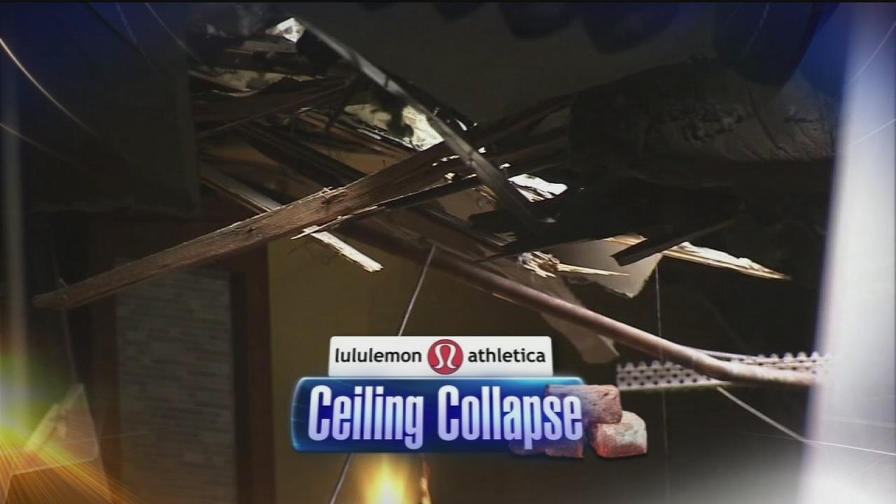 VIDEO: Ceiling collapse