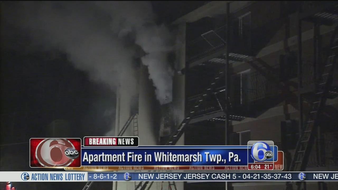 VIDEO: 3 hospitalized after apartment fire in Montco