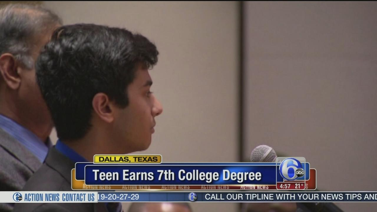 VIDEO: Teen earns 7th college degree