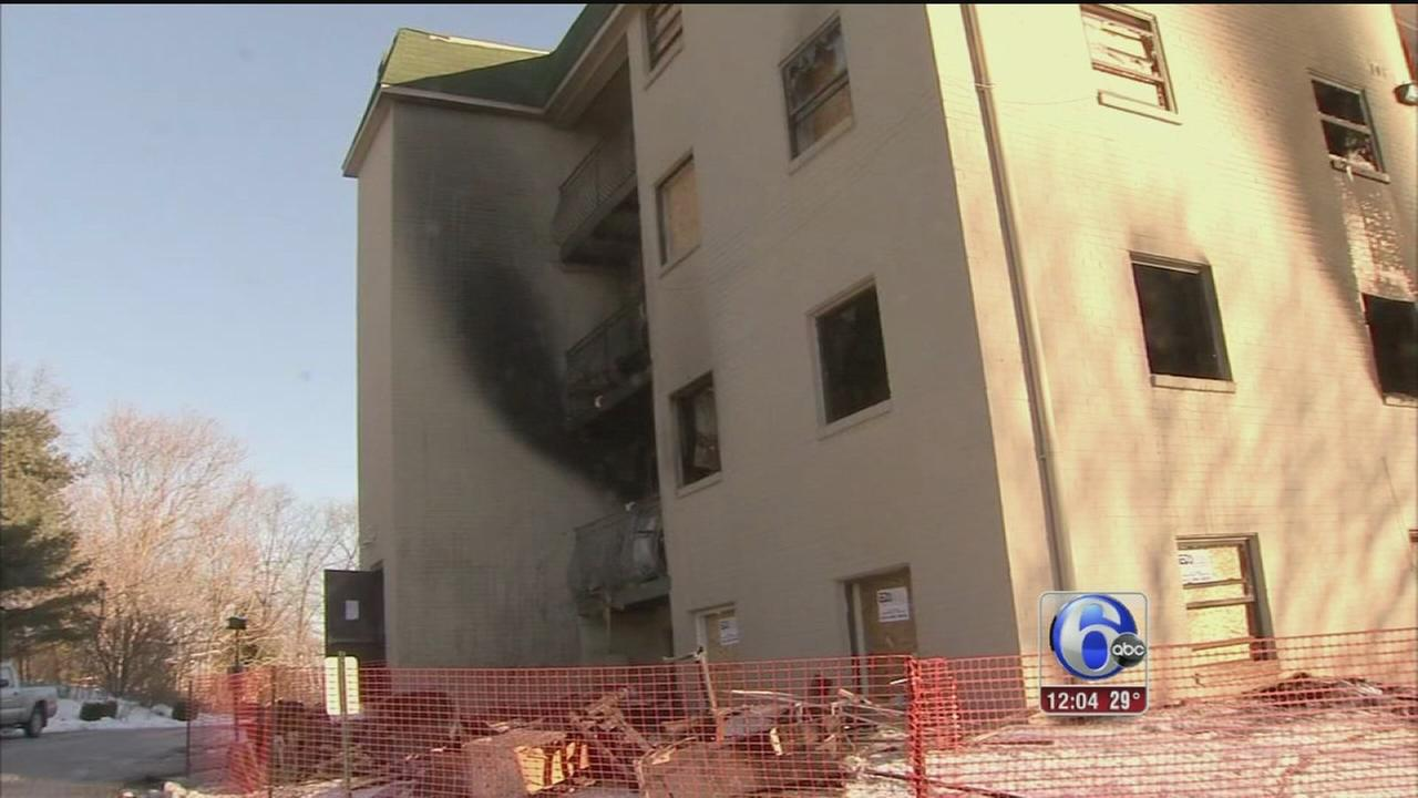 VIDEO: Dozens forced out by apartment fire