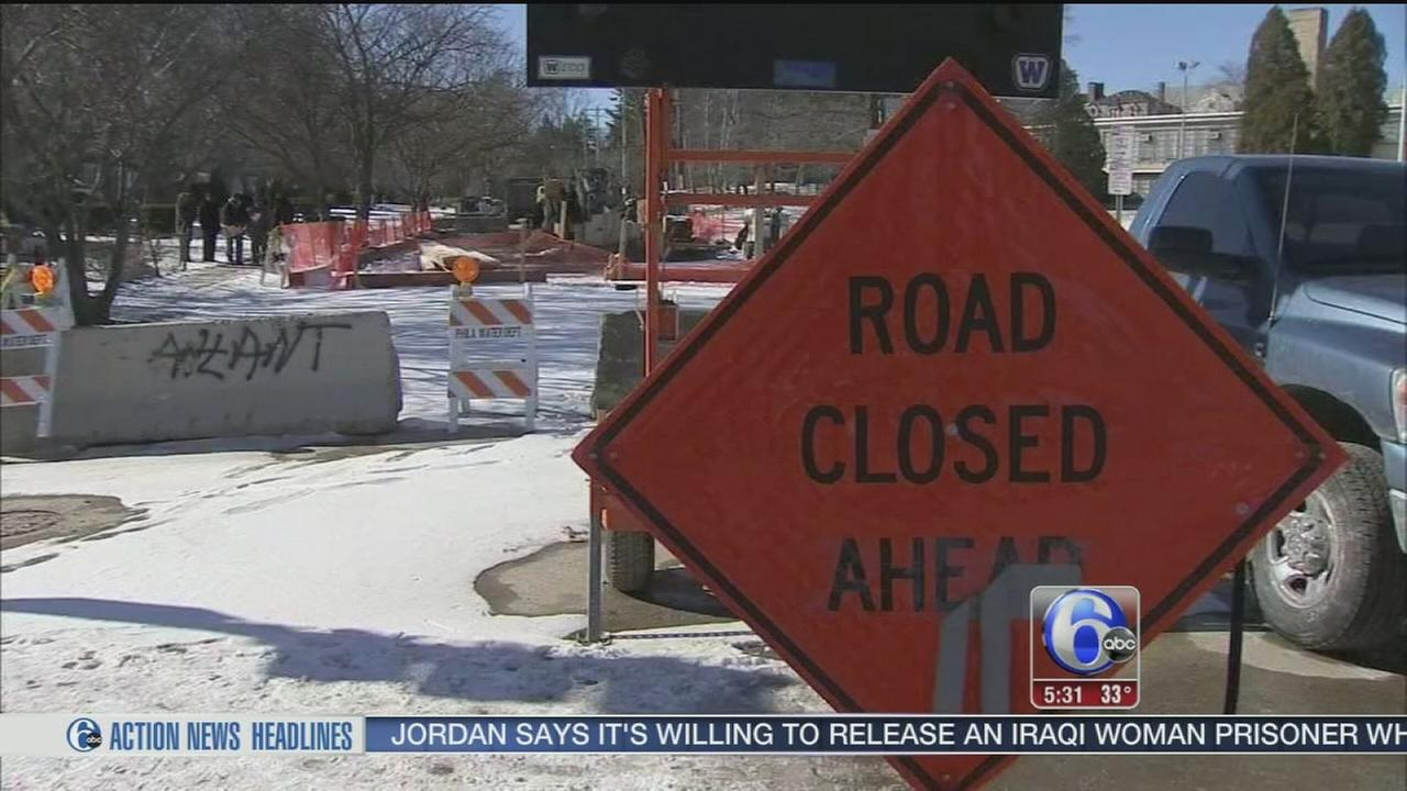 VIDEO: Residents blames SEPTA for water main mess