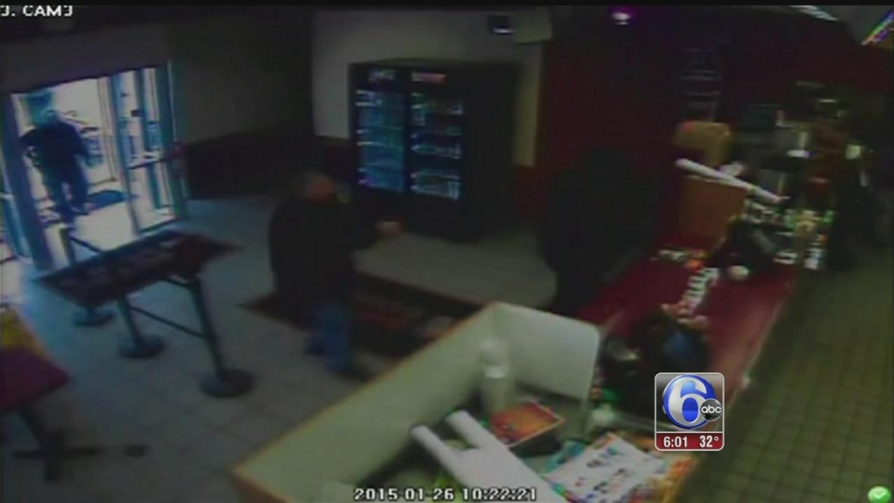 VIDEO: Officers interrupt robbery attempt at Olney Dunkin Donuts