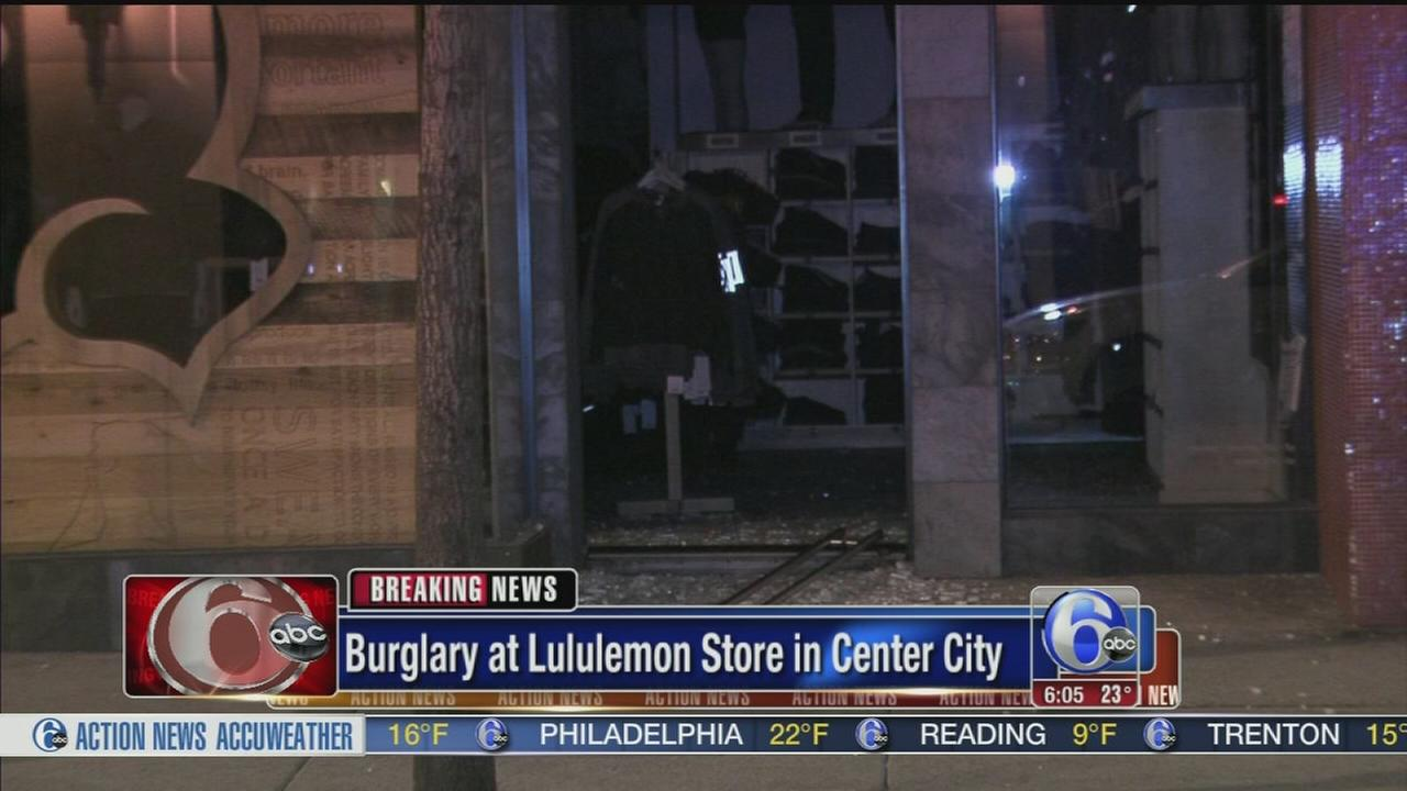 VIDEO: Burglary at Lululemon store in Center City