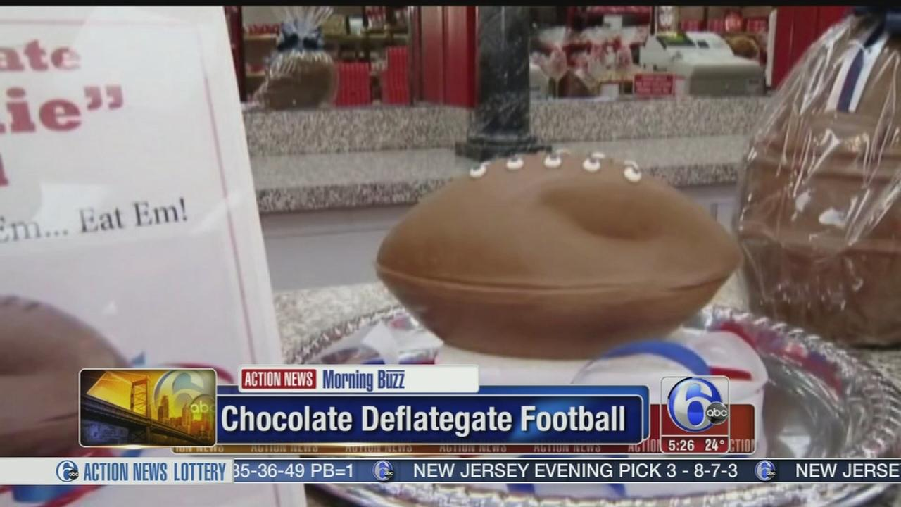 VIDEO: Candy makers chocolate deflategate football
