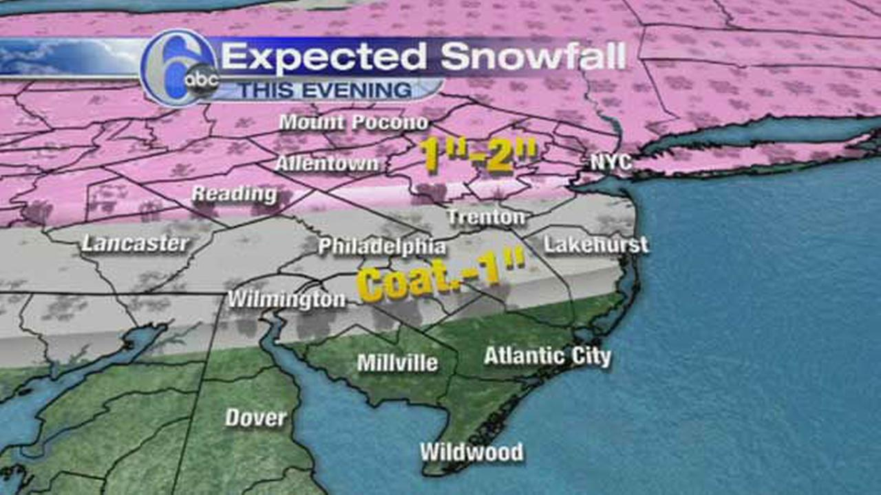 ACCUWEATHER MAPS: Light snow expected Thursday night