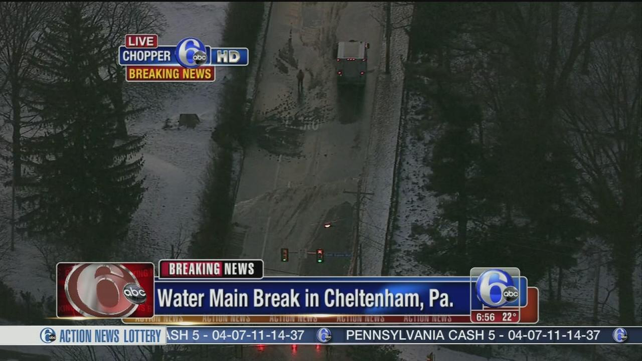 VIDEO: Customers affected by water main break in Cheltenham