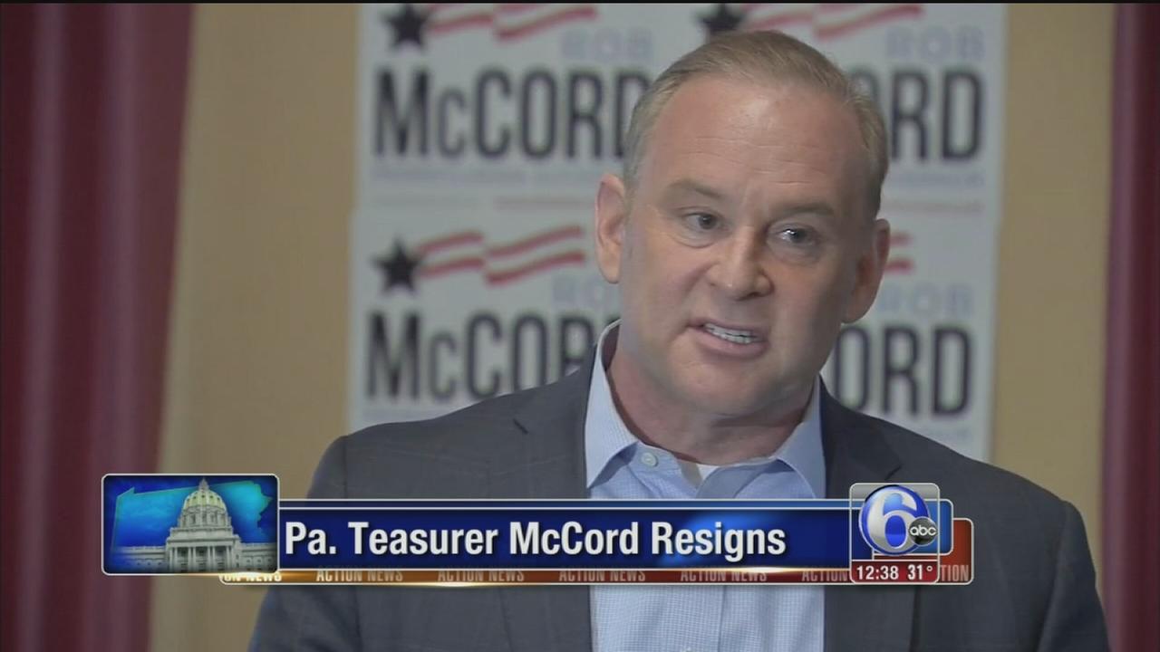 VIDEO: Pa. Treasurer McCord resigns