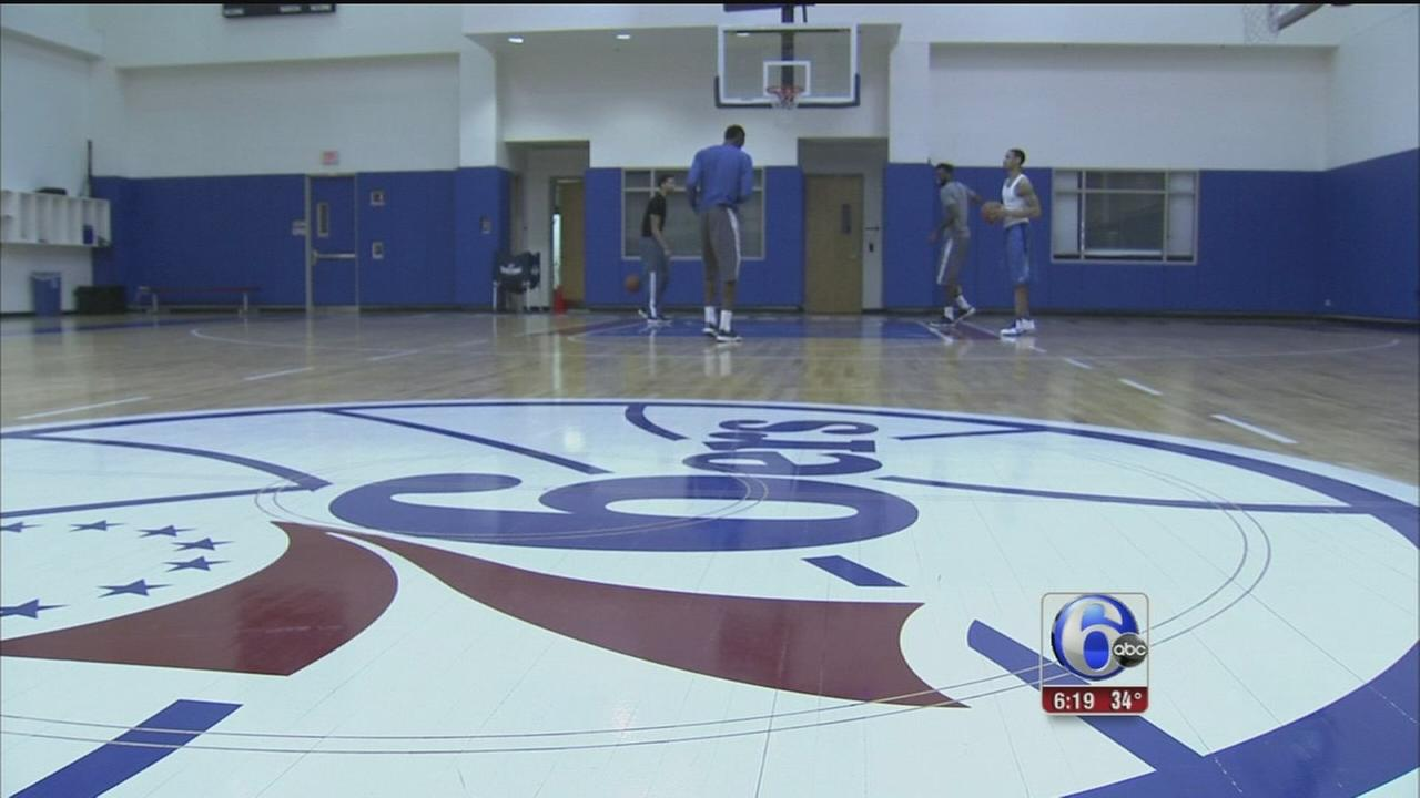 VIDEO: Sixers players back to work after big win