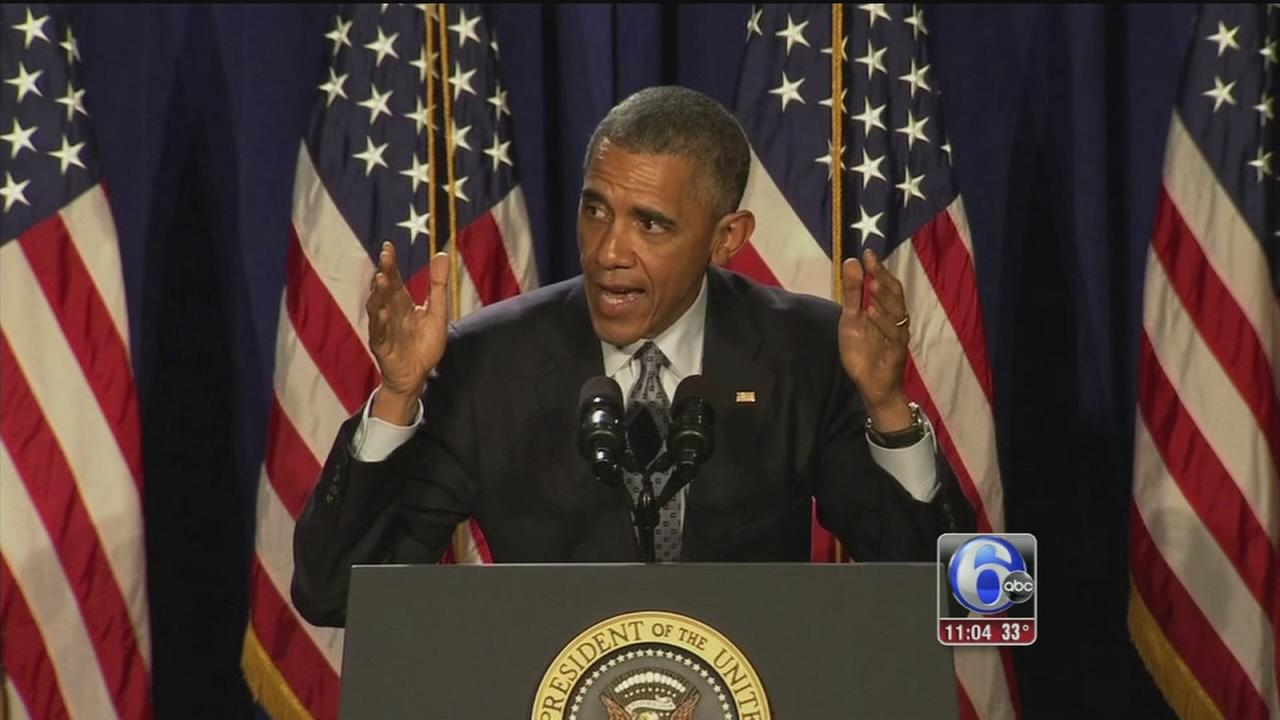 VIDEO: President Obama gives Democrats a pep talk in Philly