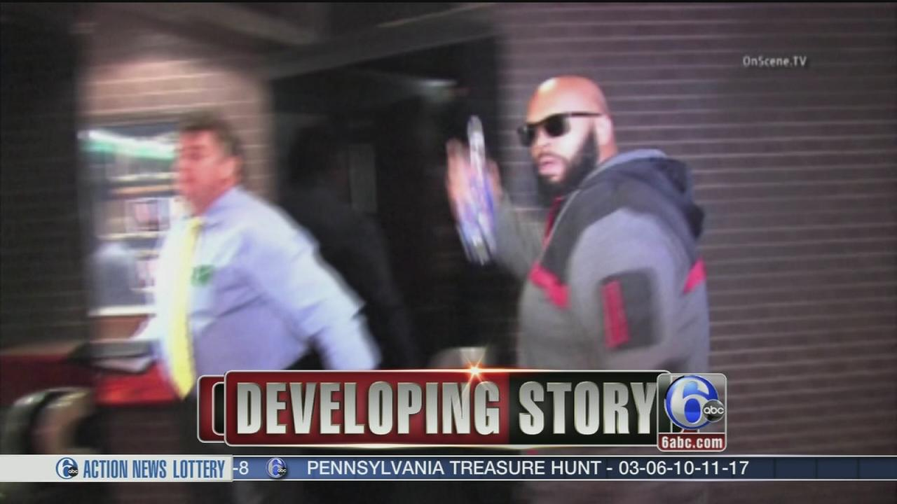 VIDEO: Suge Knight surrenders to police after fatal hit-and-run