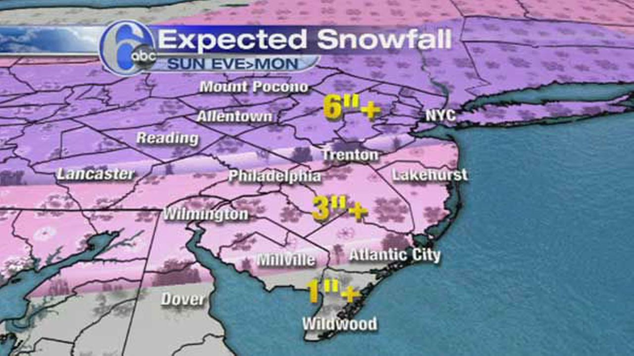 ACCUWEATHER MAPS: Sunday nights possible snowfall