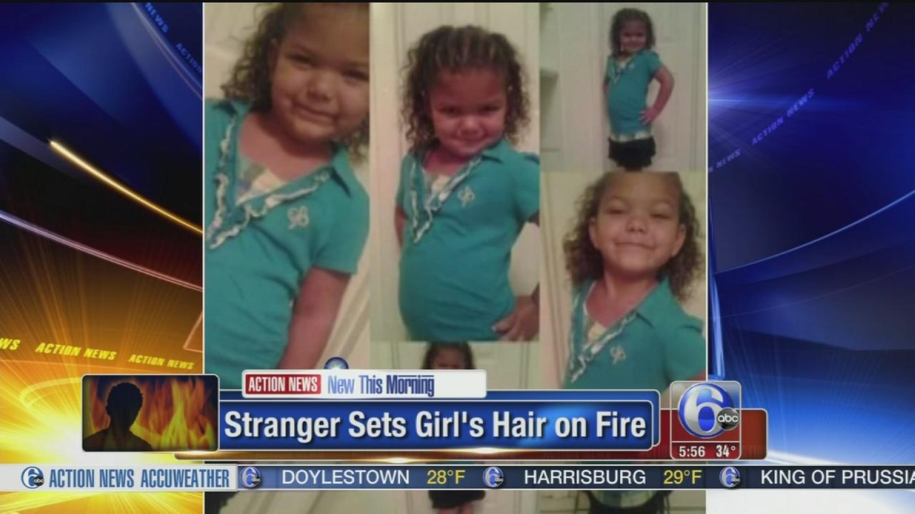 VIDEO: Srtanger sets girls hair on fire