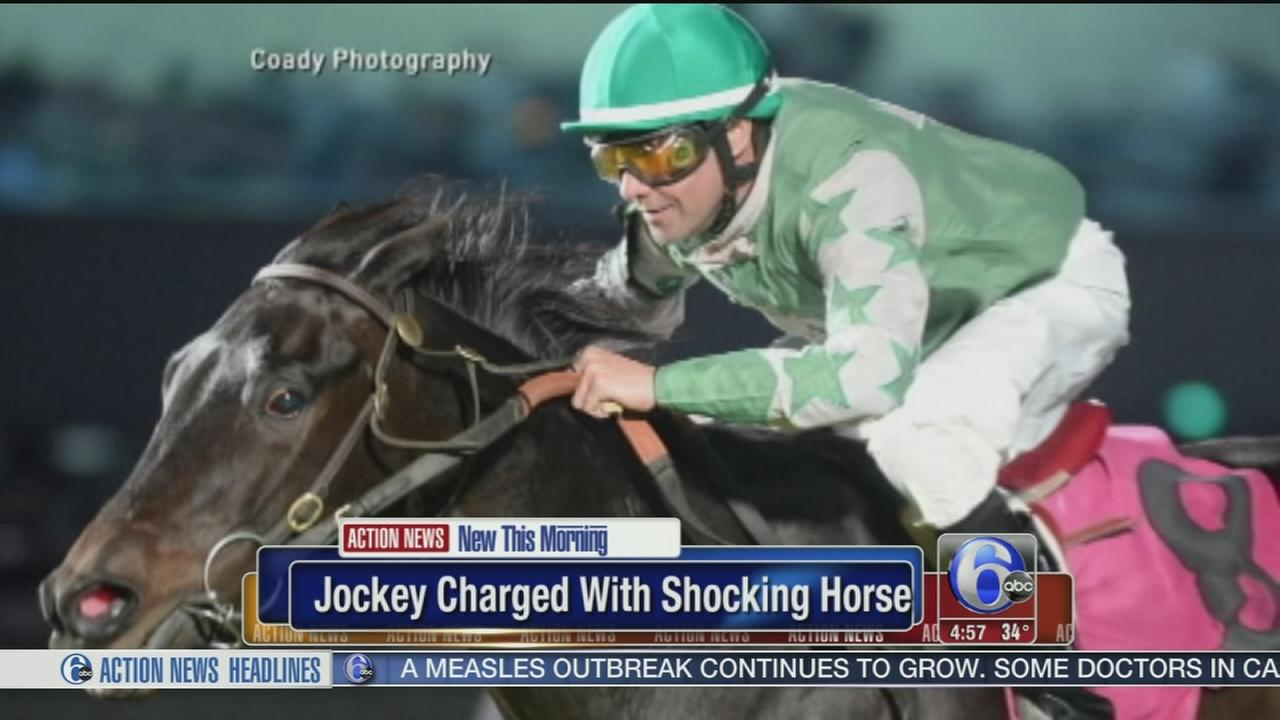 VIDEO: Jockey charged with shocking horse