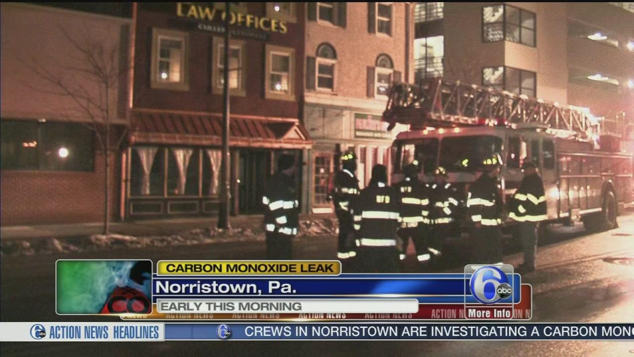 VIDEO: Fire causes CO to leak in businesses in Norristown