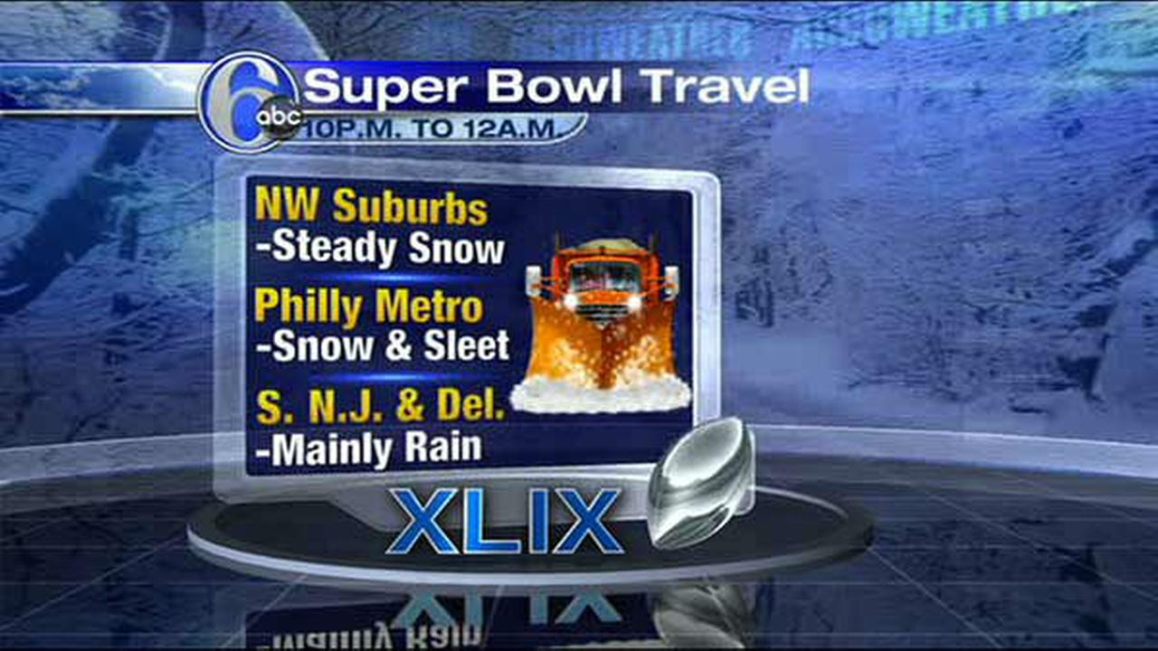 ACCUWEATHER MAPS: Super Bowl Sunday wintry mix