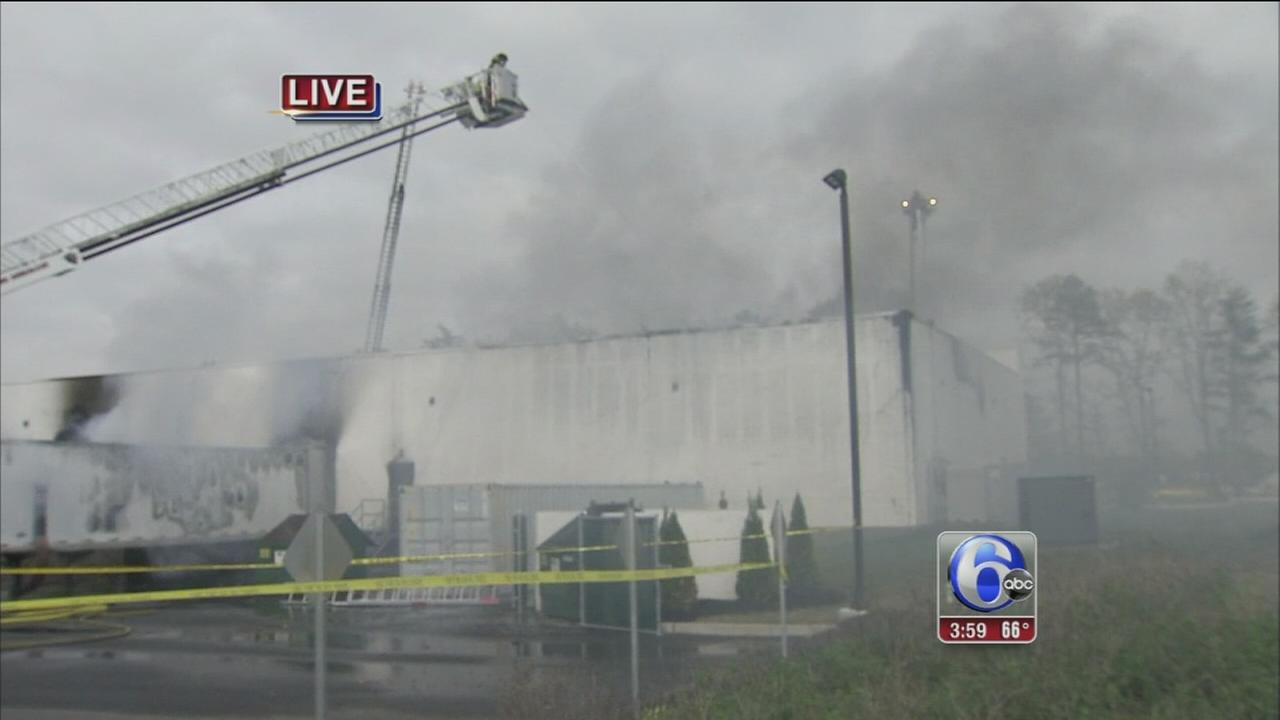Business burns in Camden County
