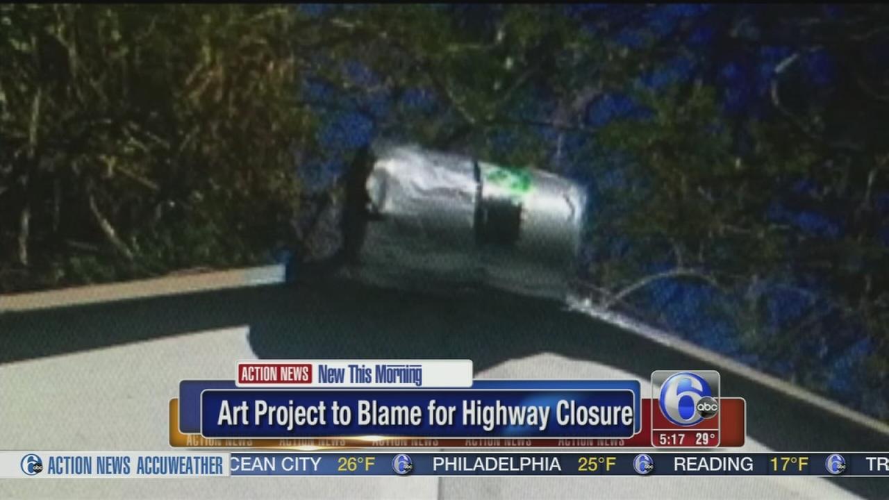 VIDEO: Art project blamed for closing Atlanta highway