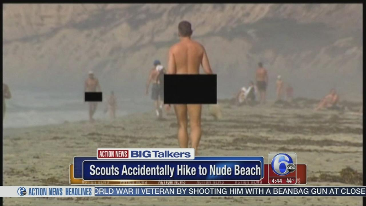 VIDEO: Scouts accidentally hike to nude beach