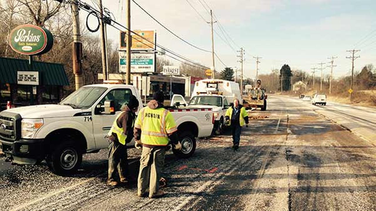 A water main break is causing problems in Delaware.