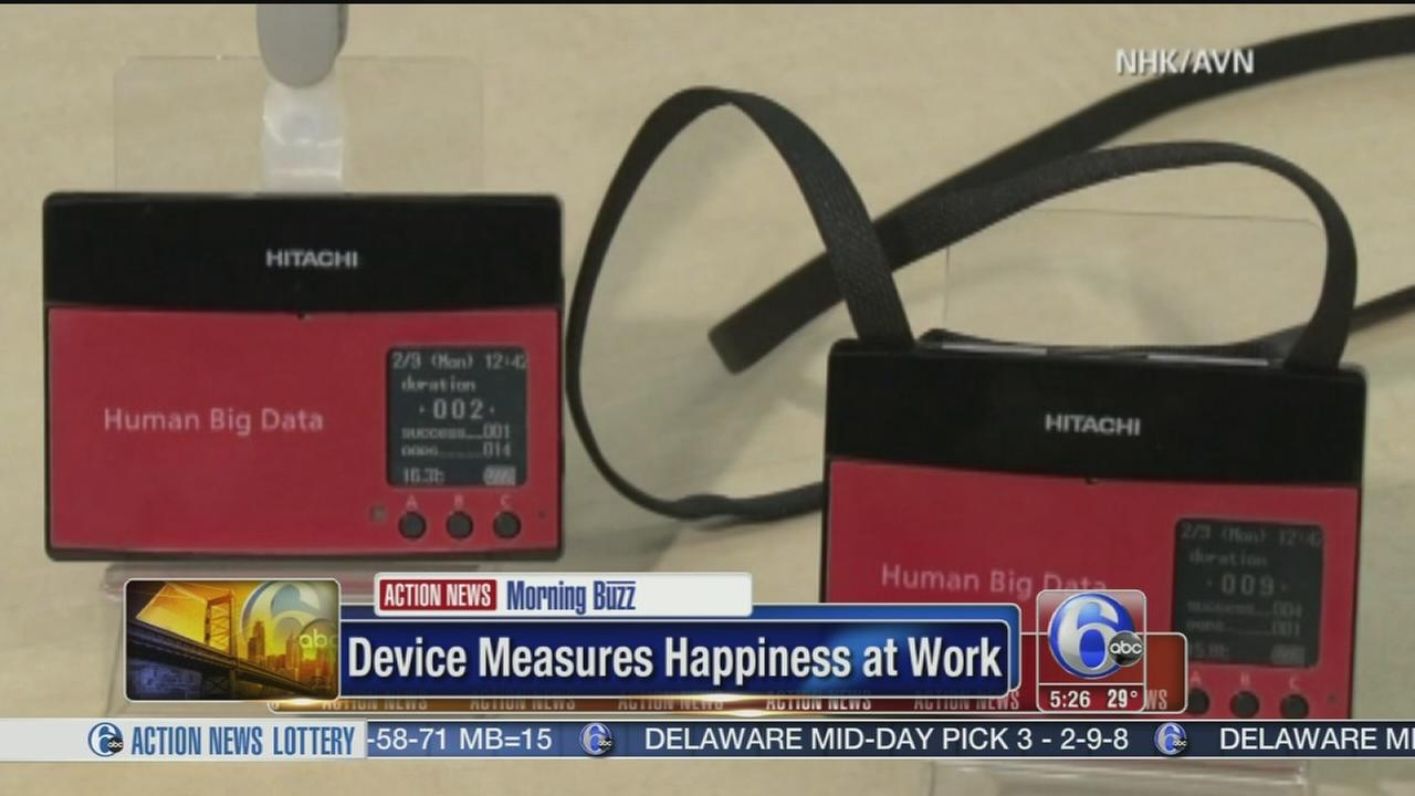 VIDEO: Device measures happiness at work