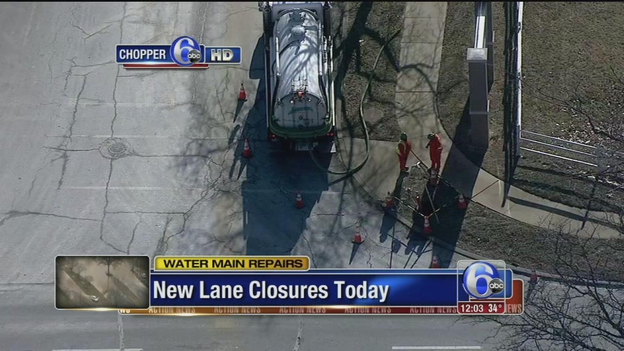 VIDEO: Lane closures
