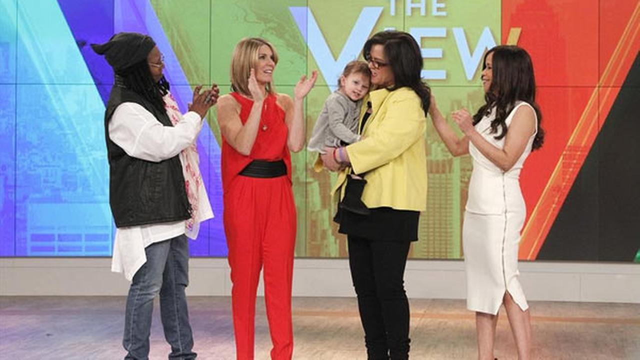 THE VIEW - Rosie ODonnell (holding Dakota) thanks Barbara Walters and the cast and crew of THE VIEW, 2/12/15, on her last day as a co-host.