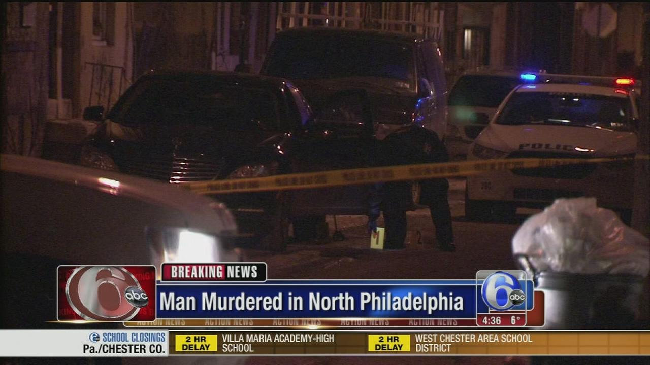 VIDEO: Man shot dead at close range in car in North Philly