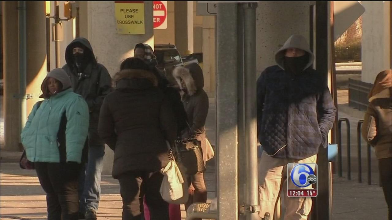 VIDEO: Commuters brave the coldest temps in decades