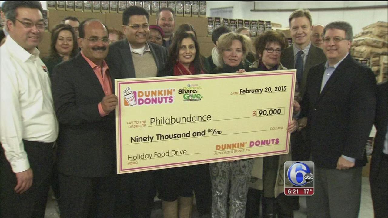VIDEO: 6abc/Dunkin Donuts food drive most successful ever