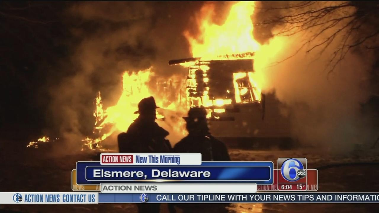 VIDEO: House under renovation goes up in flames in Elsmere