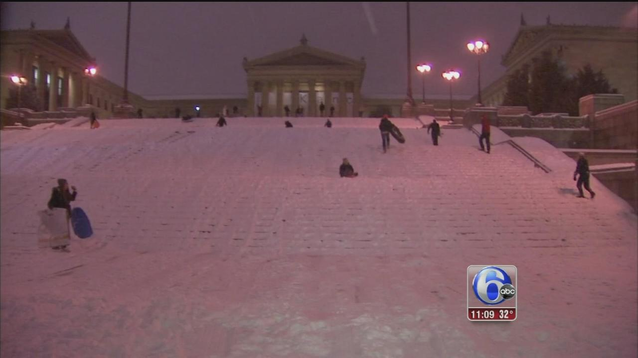 VIDEO: Annie McCormick reports on snow in Philly