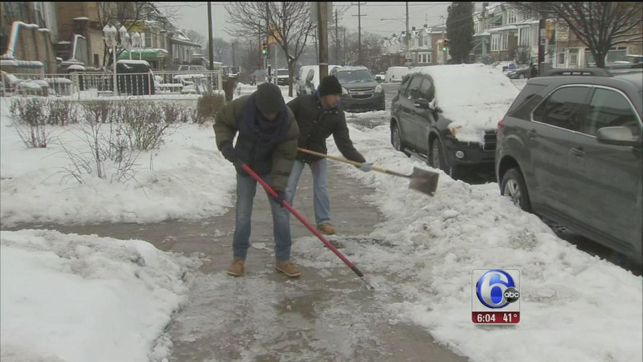 VIDEO: Icy patches cause problems in area