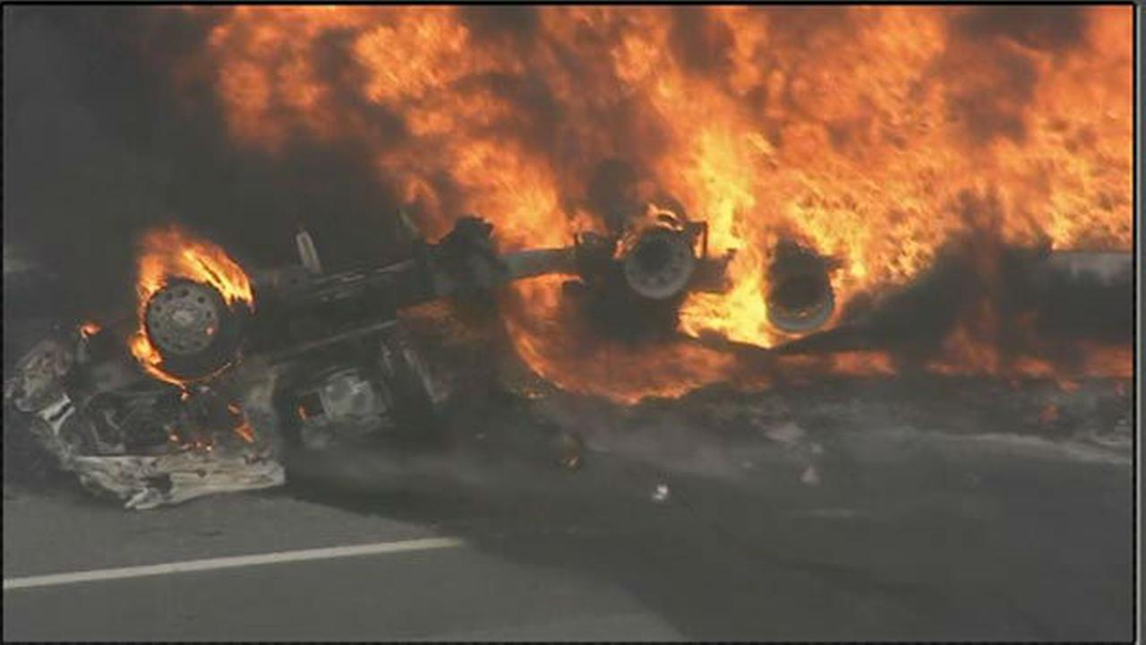 PHOTOS: Massive tanker truck fire in Pennsauken, NJ