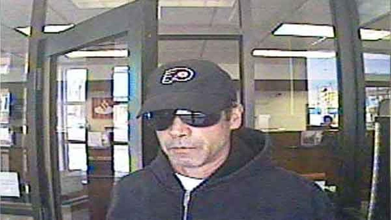 Police and the FBI are searching for a man wanted for  bank robbery in South Philadelphia.