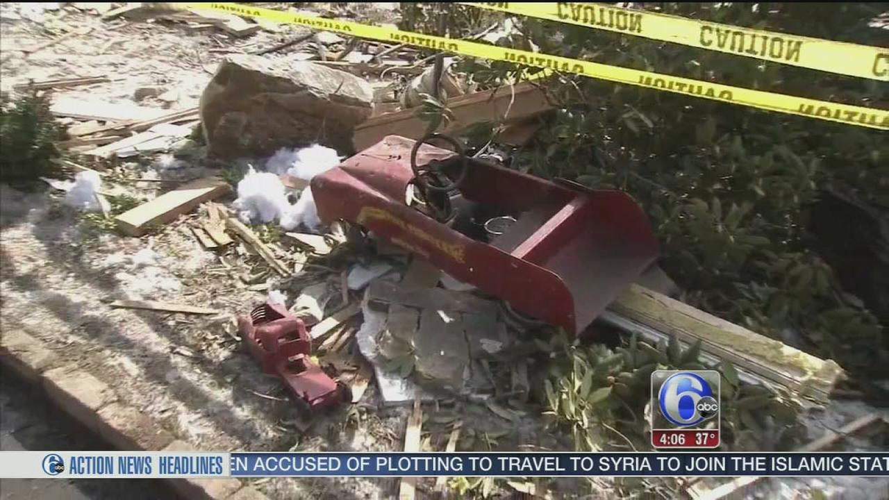 VIDEO: Broken gas line blamed for Stafford Twp. house explosion