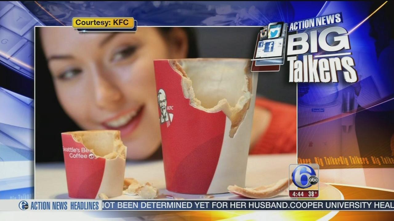 VIDEO: KFC edible coffee cup