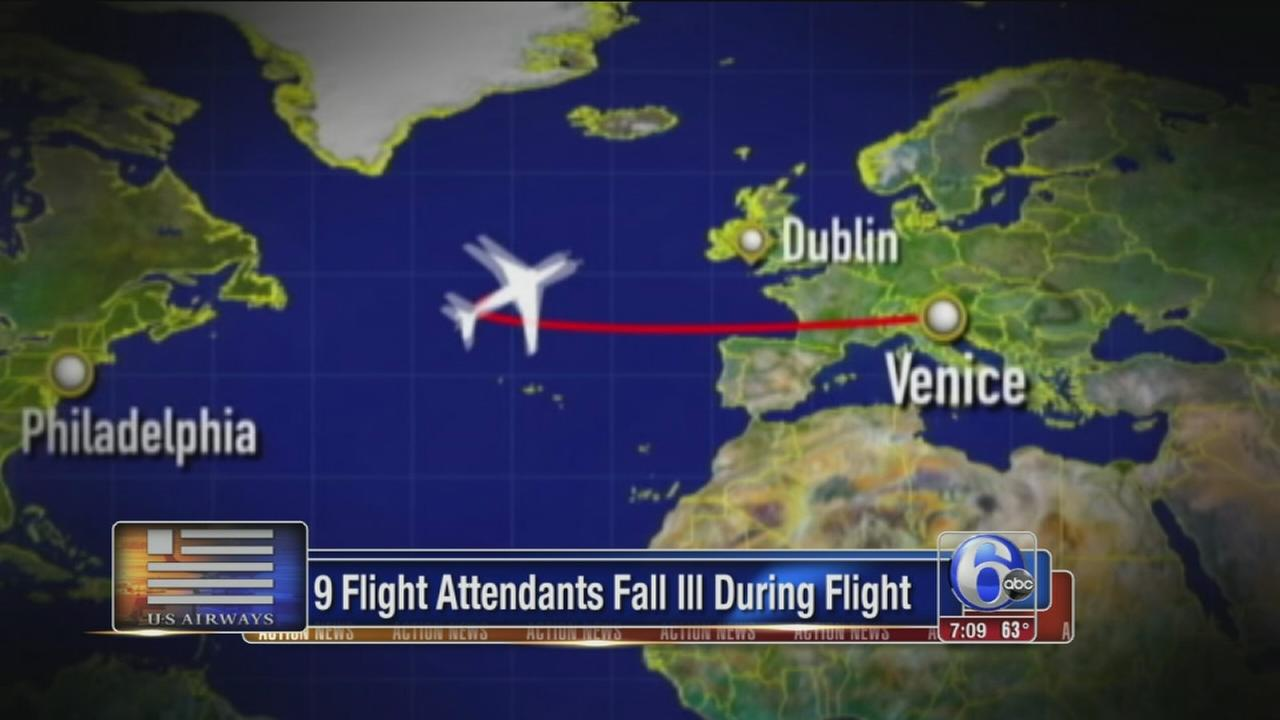 Philly-bound flight diverted after flight attendants fall ill